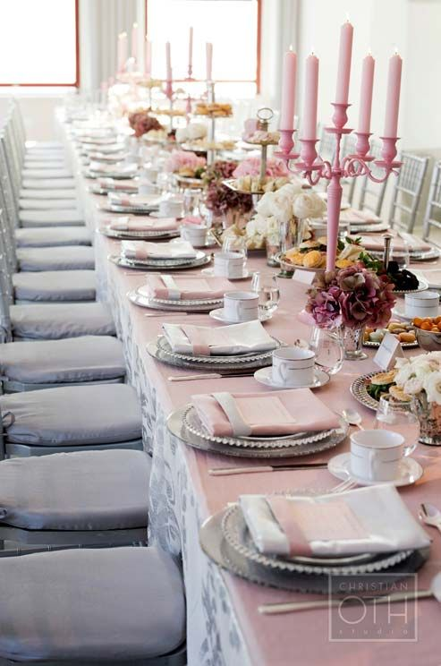 Pink and Gray Afternoon Wedding, Tea Party, Empire State Building || Colin Cowie Weddings