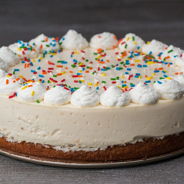 Birthday Cake Bottom Cheesecake