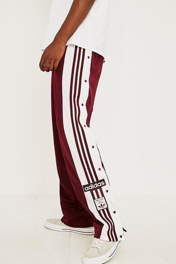 adidas Adibreak Maroon Track Pants | Casual in 2019 | Pants