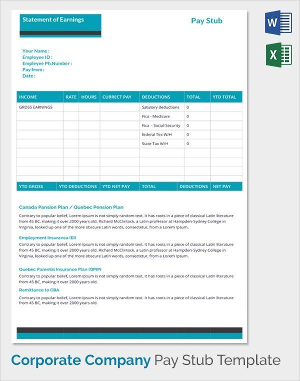 Free Employee Earnings Statement Template Sample Pay Stub Template 24 Download Free Documents In Statement Template Templates Templates Free Design