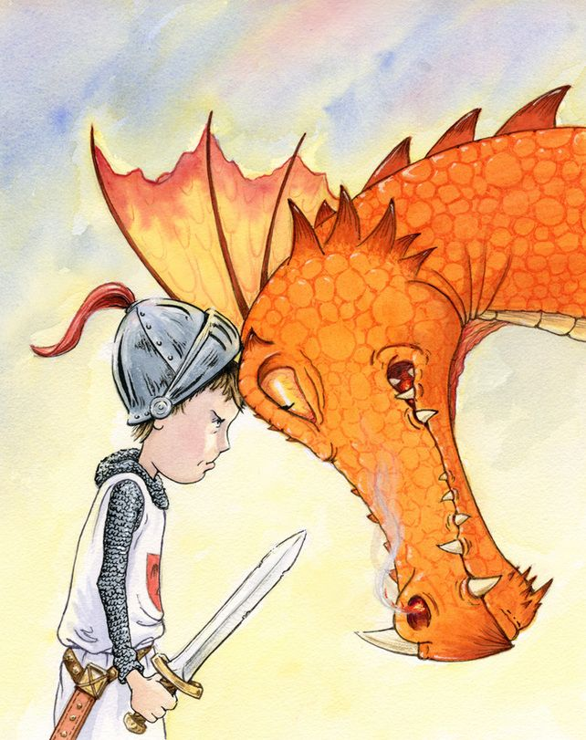 'Dragon Face-off'  Fine Art Giclee Print, signed. Seriously gorgeous print. This just arrived for Sam's bedroom.