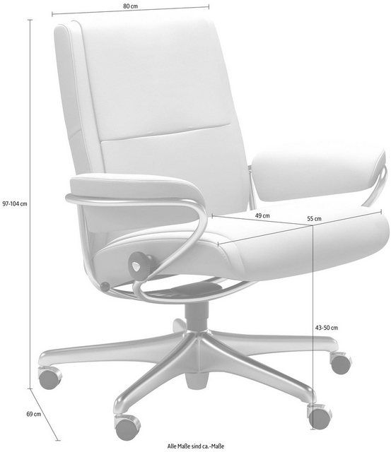 Clubchair Relaxsessel »Paris«, Low Back mit Home Office Base