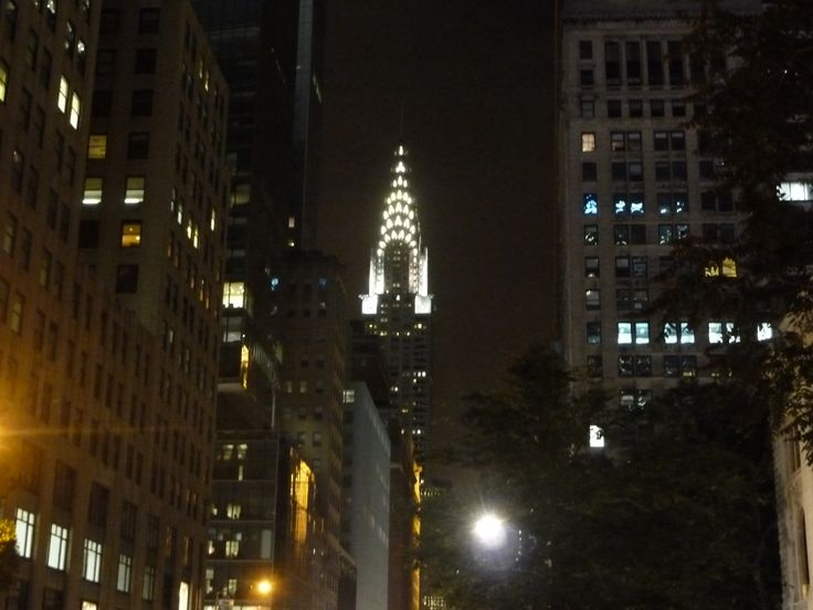 New York - Chrysler Building by night