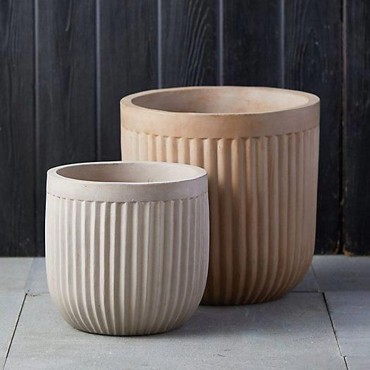 indoor planters Hand-crafted from a lightweight fiber concrete, these vintage-inspired planters feature frost-resistant material and can be used indoors or outdoors. Shop now!