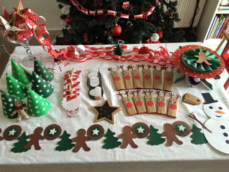 Christmas accessories for a Christmas party