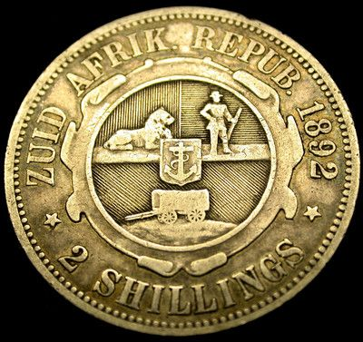 1892 SOUTH AFRICA 2 Shillings SUPER KEY DATE Sterling Silver Coin HYPER SCARCE!