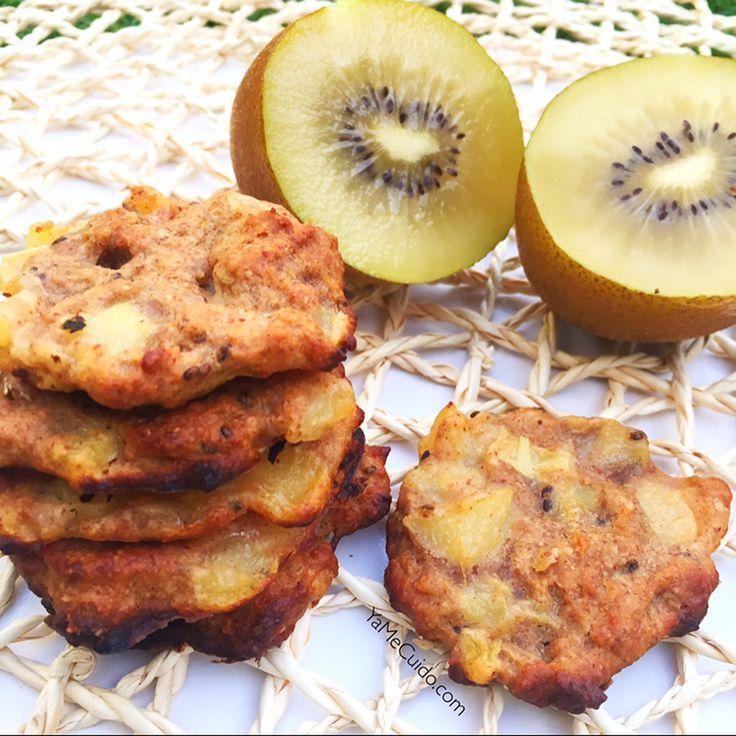 Te apetecen unas galletas? Y si te digo que son sanas y están riquísimas? Te  preparar las Galletas de avena y kiwi  -1/2Kiwi -50 gr deharina de avena -1/2 Plátano -2 cdas. de mantequilla de cacahuete