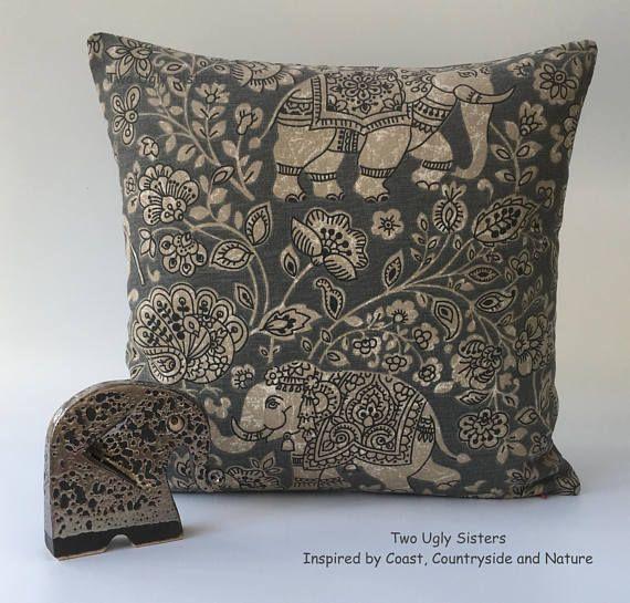 Elephant Pillow Elephant Gift Cushion Cover Elephant Gifts