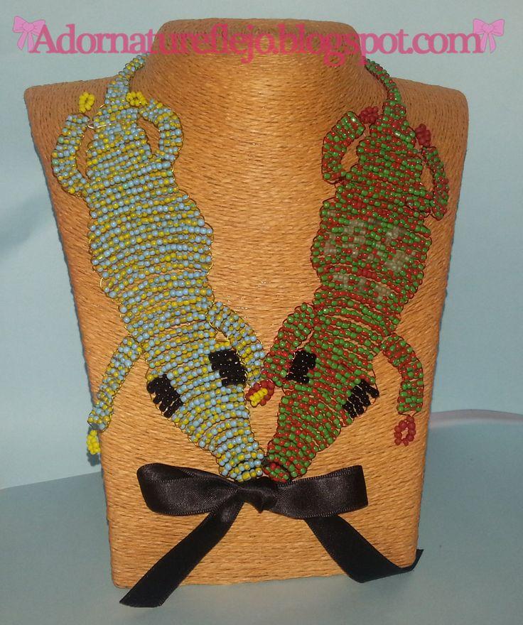 Collar lagartijas de abalorios #diy #necklaces