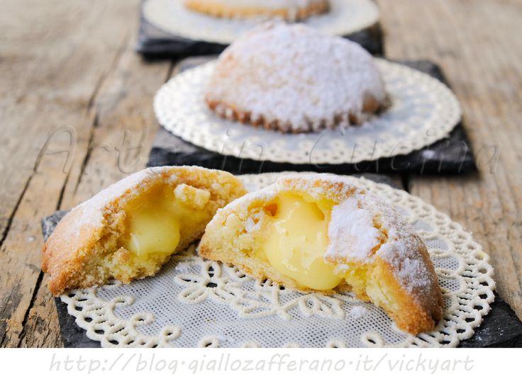 Genovesi dolci siciliani alla crema pasticcera, dolci da merenda, colazione, feste, buffet, ricetta congelabile, dolci tipici, ricetta facile, crema al limone