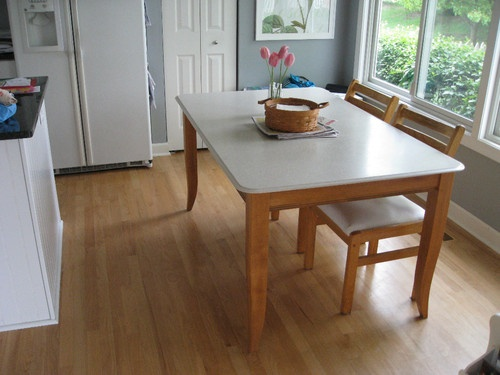 Corian top kitchen tables shapeyourminds replace awful black gl table top that i thought liked with a watchthetrailerfo