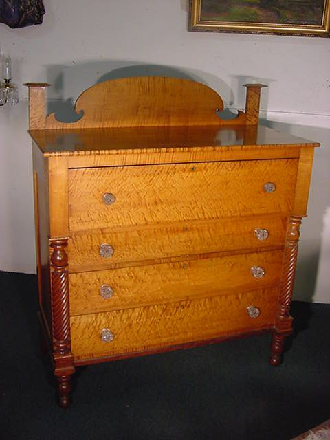 251 best tiger maple images on pinterest antique for American empire bedroom furniture