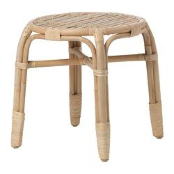 IKEA - MASTHOLMEN, Side table, , Handmade by a skilled craftsman.Furniture made of natural fiber is lightweight, but also sturdy and durable.Plastic feet protect the furniture when in contact with a damp surface.
