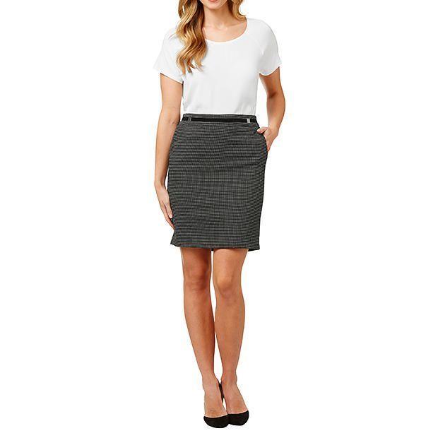 A-Line Dot Mini Skirt