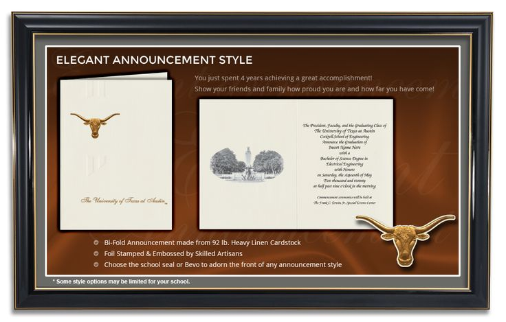 Elegant Announcement Style