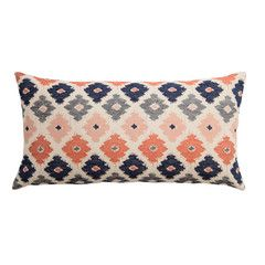 Crane and Canopy CORAL FLOWERS THROW PILLOW