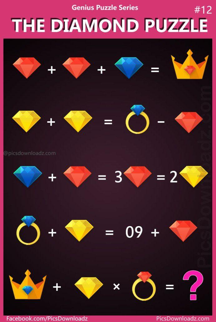 The Diamond Puzzle: Genius Puzzle Series #12 - Difficult ...