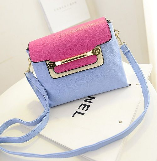 tas import C004 Light Blue Material:PU leather Size:24x19cm idr:190.000