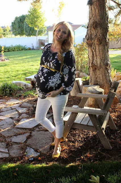 Early fall maternity outfit