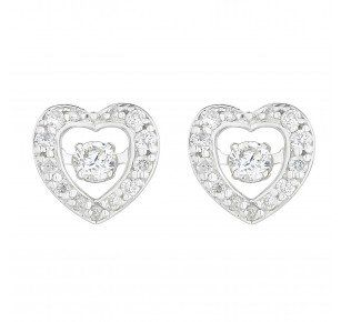 Simply beautiful - 9ct white gold 0.35 carat diamond heart stud earrings from Fraser Hart. £550.
