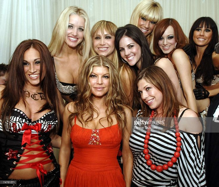 Stacy Ferguson aka Fergie of the Black Eyed Peas and Dana Ferguson with the Pussycat Dolls during Black Eyed Peas' Fergie Celebrates Her Birthday at Pure Nightclub in Las Vegas - March 25, 2006 at Pure Nightclub at Caesars Palace in Las Veg