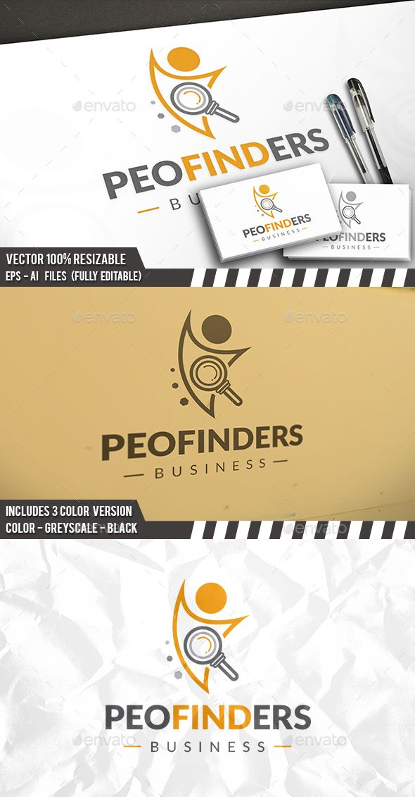 People Finder Logo — Photoshop PSD #search #job website • Available here → https://graphicriver.net/item/people-finder-logo/17362367?ref=pxcr