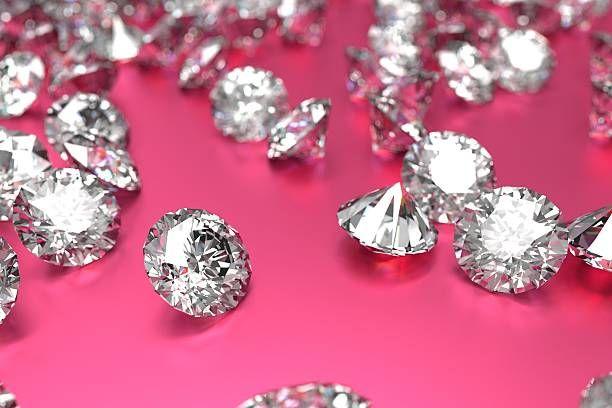 Luxury Diamonds On Pink Background Pink Diamonds Background Pink Background Luxury Diamonds