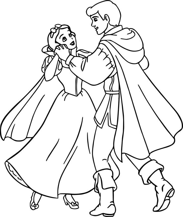 Принцесса и принц раскраска