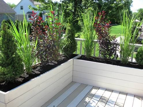 built in flower planter on outside of deck - Google Search