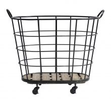 DOWNTOWN iron basket, black