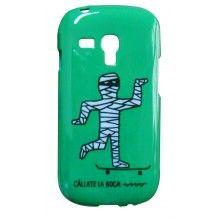 Carcasa Galaxy S3 Mini Cállate la Boca - Momia Skater  Bs.F. 134,48