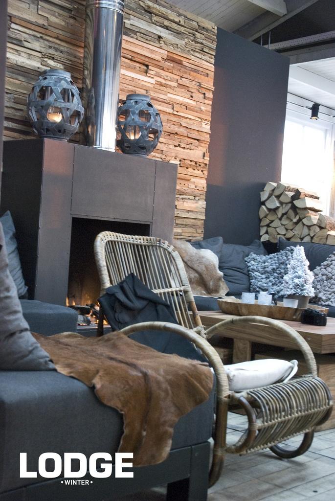 Fireplace Winter Lodge Noordwijk