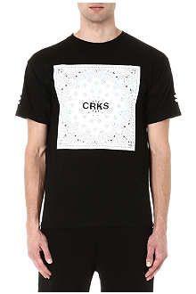 CROOKS AND CASTLES CRKS block print t-shirt