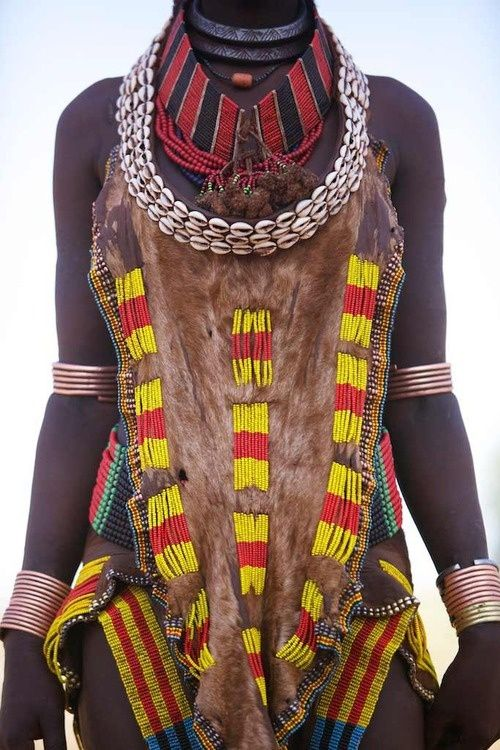 African tribe , they used fur to make their costumes and color to decorate clothing