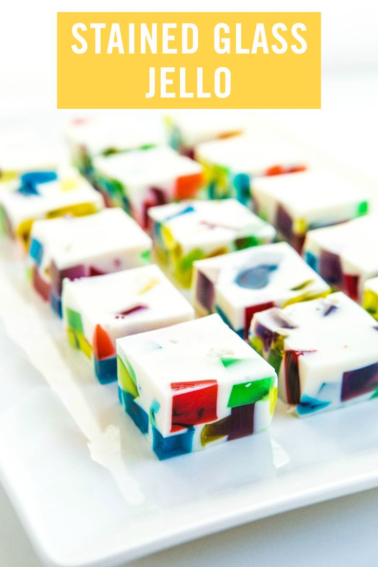 Why make regular jello jigglers when you can make these amazing Stained Glass Jello Squares? This rainbow recipe will help you craft edible art for the whole family to enjoy.