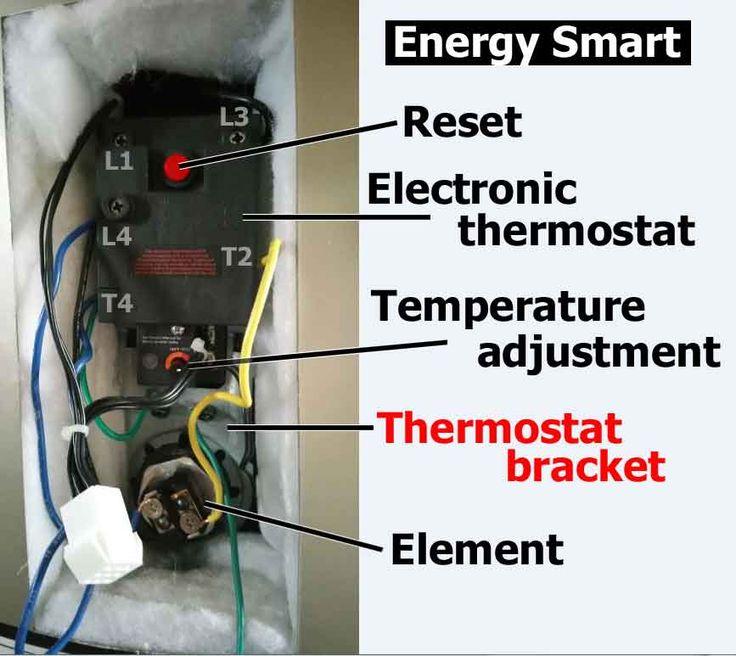 Convert electronic water heater to mechanical heater http
