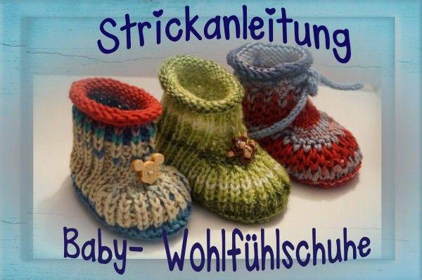 Anleitung, Ebook zum stricken für Baby- Wohlfühlschuhe