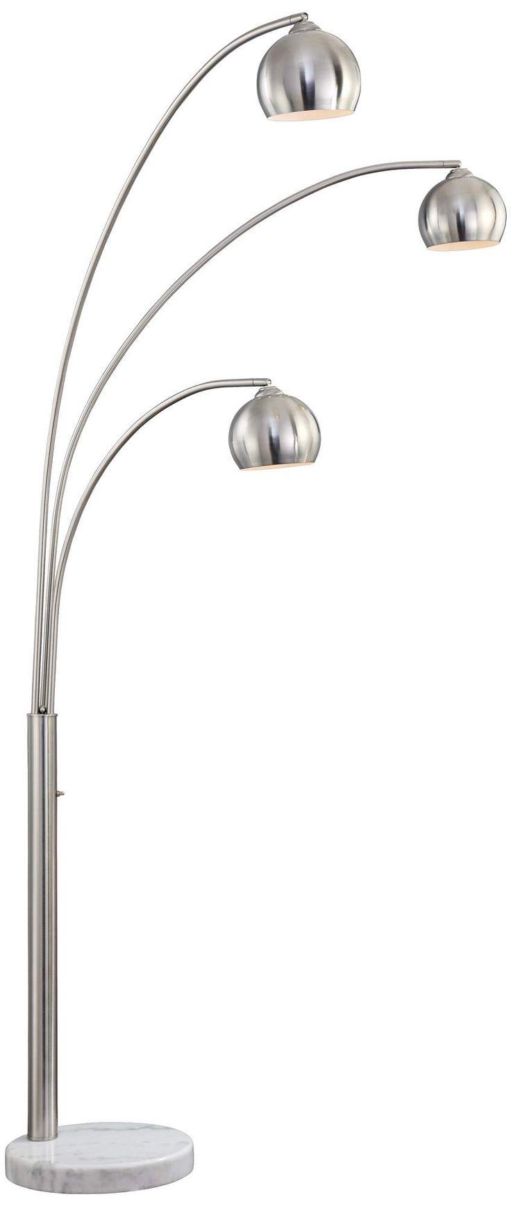 Threshold torchiere floor lamp textured bronze 65 - Crosstown 3 Light Arc Floor Lamp Style P9458