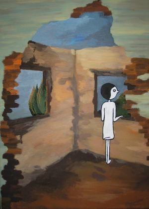ArtConsulting - Eva Dostálková - Za oknom                                                 Outside the window.