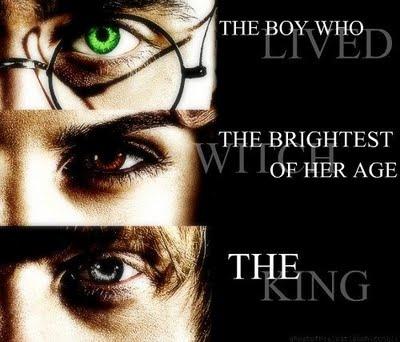 Golden Trio Eyes    Harry Potter  Hermione Granger  Ron Weasley