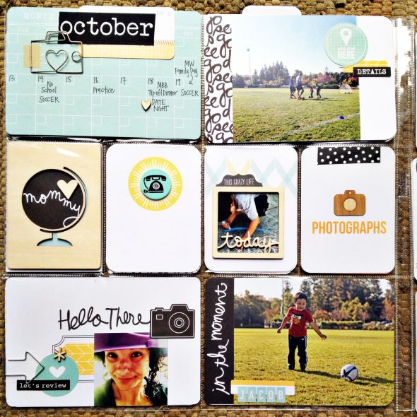 love this idea for the week card! HAND WRITTEN CALENDAR :: Project Life-inspiration