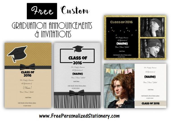 Graduation announcements and invitations (free and customizable)