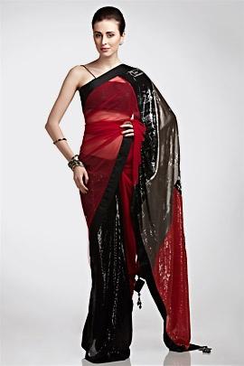 Satya Paul cassette-print sari <3