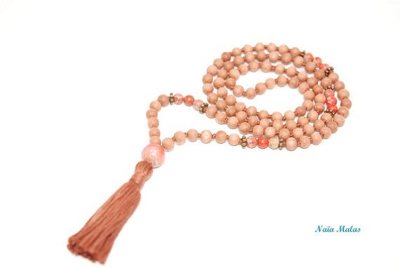 SWEET FEMINITY MALA  Handknotted 6mm impression by NaiaMalas