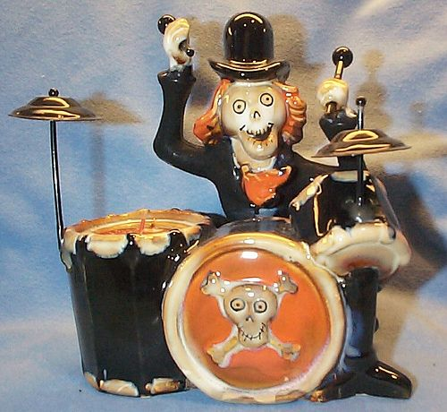 "Boney Bunch 2010 ""The Rolling Bones"" Wedding Band Drummer Votive Holder    http://www.bluechipunlimited.com/"