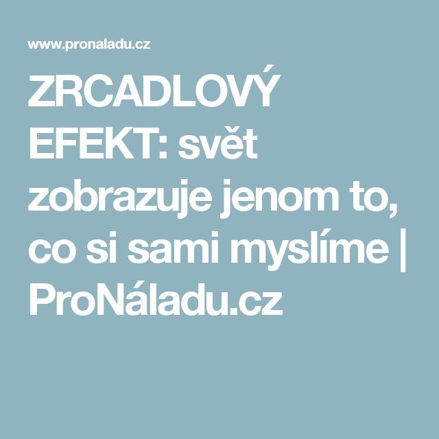 ZRCADLOVÝ EFEKT: svět zobrazuje jenom to, co si sami myslíme   ProNáladu.cz