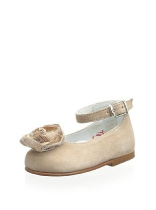 64% OFF Papanatas by Eli Kid's Ballet Flat with Ankle Strap (Taupe)