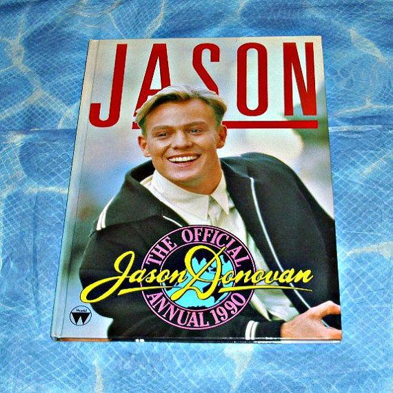 Jason Donovan Official Annual 1990 Music Memorabilia Australian Actor Aussie Singer Pop Music Neighbours Vintage Collectable Hardback Book
