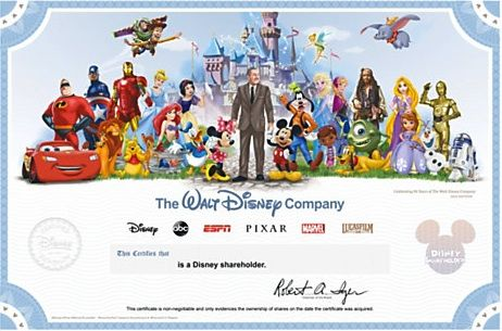 A Neat Idea for a Disney Fan: A share in the Disney Company