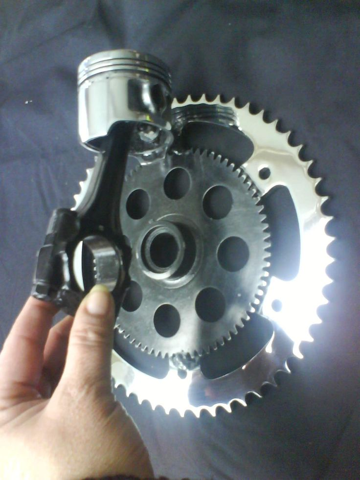 DIY door knocker made form motorcycle parts!!! Pretty sure we will be making one of these for our door!!!